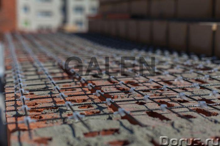 Композитная базальтопластиковая кладочная сетка «ROCKMESH», размер ячейки 50х50 мм - Материалы для с..., фото 2
